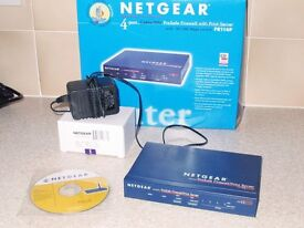 NETGEAR FR114P Cable/DSL 4 Port ProSafe Firewall Router,Print Server, PSU