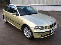 Stunning 2003 BMW 316ti Se Compact 3Dr **3 Owners+Only 76000+Full History+1 Years Mot+Mega Spec**