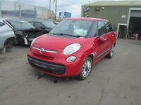2013 FIAT 500L RED DOOR WING MIRROR TAILGATE ALLOY 1.3 MULTI JET ENGINE GEARBOX BUMPER HEADLIGHT