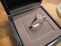 Beaverbrooks Platinum Diamond Engagement ring.