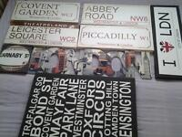 8 pieces of London Wall Art