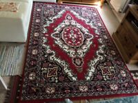 Extra Large Red Tradicional Rug ( Red, 185x270 CM ) ( 6'x9'))