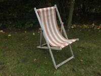 Vintage British beach deck chair spares or repair