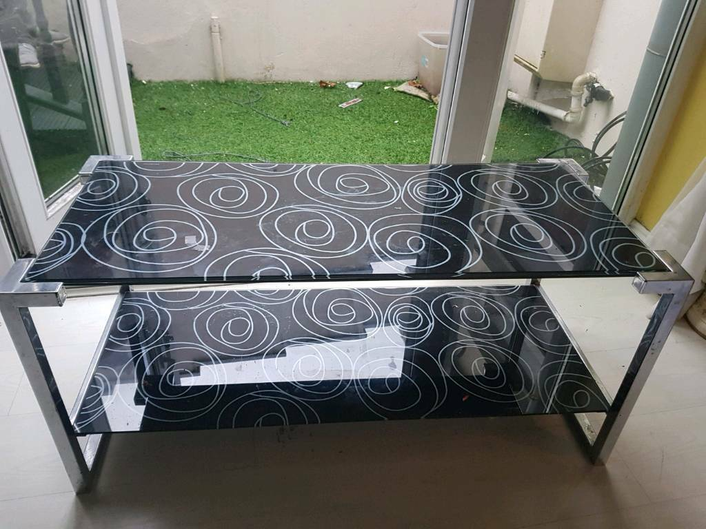 Silver & Glass Table
