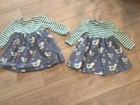 John Lewis girls bird dresses 3-6 months