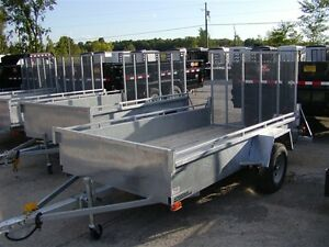 2016 Advantage 5x10 Galvanized Landscape Trailer