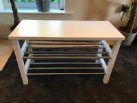 White IKEA bench