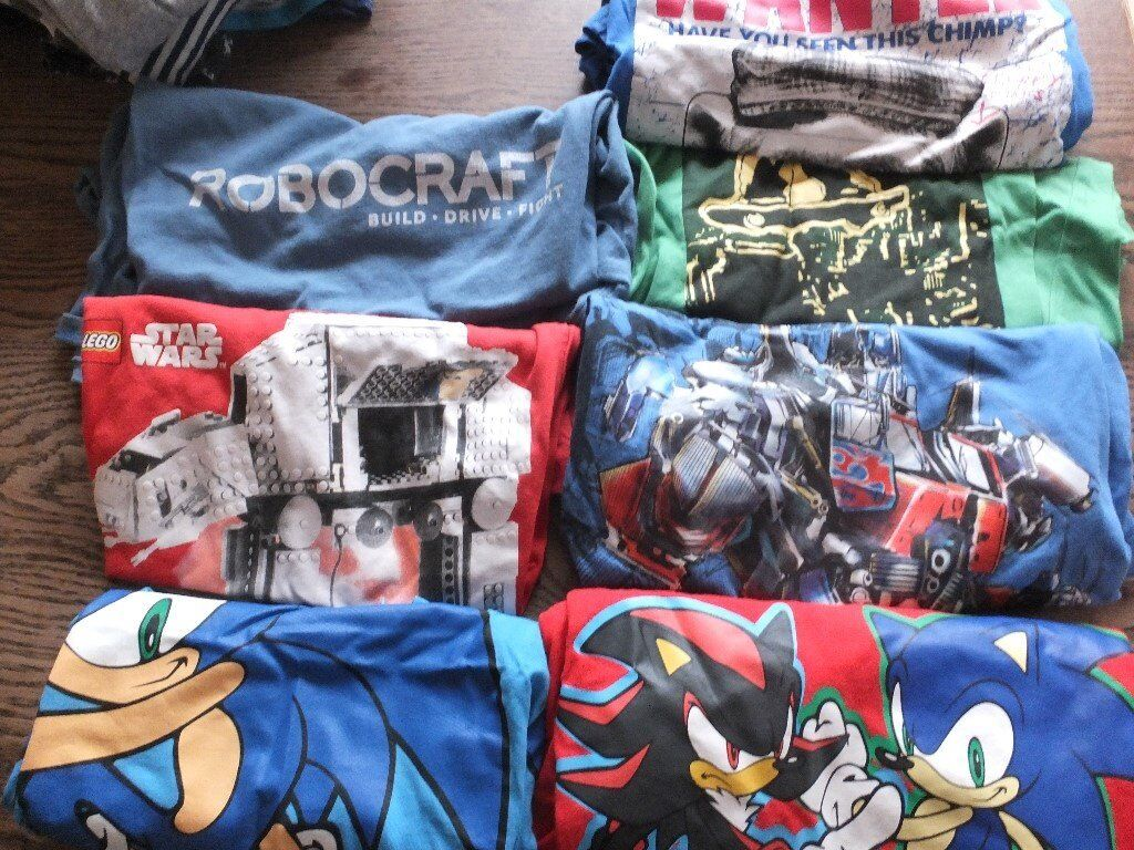 Blue Zoo Jeans, T-Shirts, Dressing Gowns, Star Wars, Sonic. Great condition.