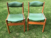 TWO STRONG DINING CHAIRS. USED. £10