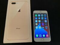 IPHONE 8 PLUS GOLD 64GB UNLOCKED BOXED