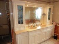 bespoke double basin vanity unit