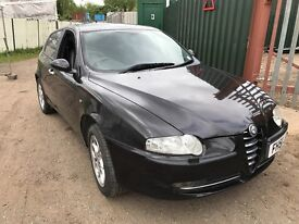 BREAKING Alfa Romeo 147 black - all parts available - bonnet bumper leather seats lights doors boot