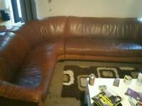 Used Real Leather Corner Sofa