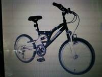 "BOYS 20"" DUAL SUSPENSION BIKE 6 SPEED BRAND NEW BOXED"