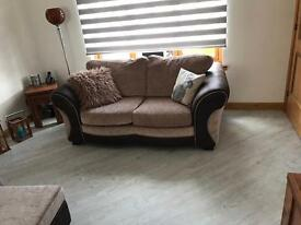 3 piece brown sofa, excellent condition. Price reduced*
