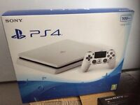 Sony Playstation 4 Slim Unopened White 500GB PS4 Boxed, new including controller