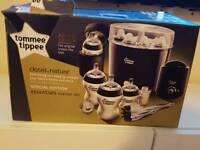 New Tommee tippee black essentials starter kit (except steriliser)