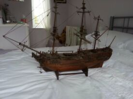Wooden replica of the HMS Bounty