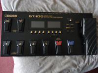 Roland Boss GT 100 Multi Effects Pedal With Boss GT100 V2 Software Loaded