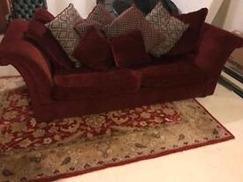Large 3 seat sofa with foot stool