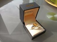 3.5 carat Citrine Sterling Silver Ring. Exclusive to Shipton & Co. England. Large stone.