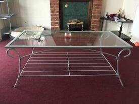 Glass furniture set of 3