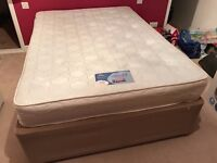 Silentnight Miracoil Double bed divan with 2 storage