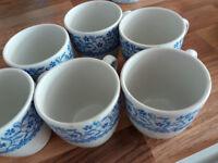 VINTAGE COFFEE SET 6 CUPS 6 SAUCERSBY DUNN, BENNETT