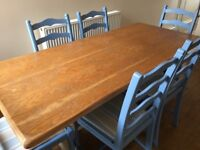 Up-cycled Farmhouse Kitchen style Dining Table and Chairs