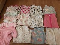 Baby Girls 3-6 months pjs and vests bundle