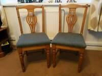 X2 DUCAL solid pine dining chairs.