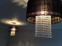 Black voile lampshades