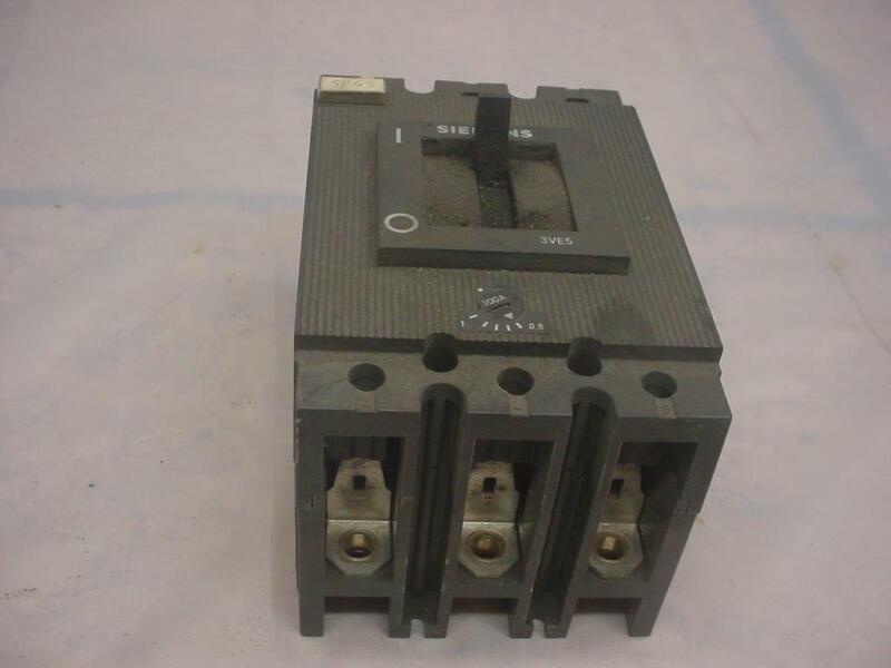 3VE5201 100Amp Siemens Electric Heavy Industrial Circuit Breaker 3VE5  E152