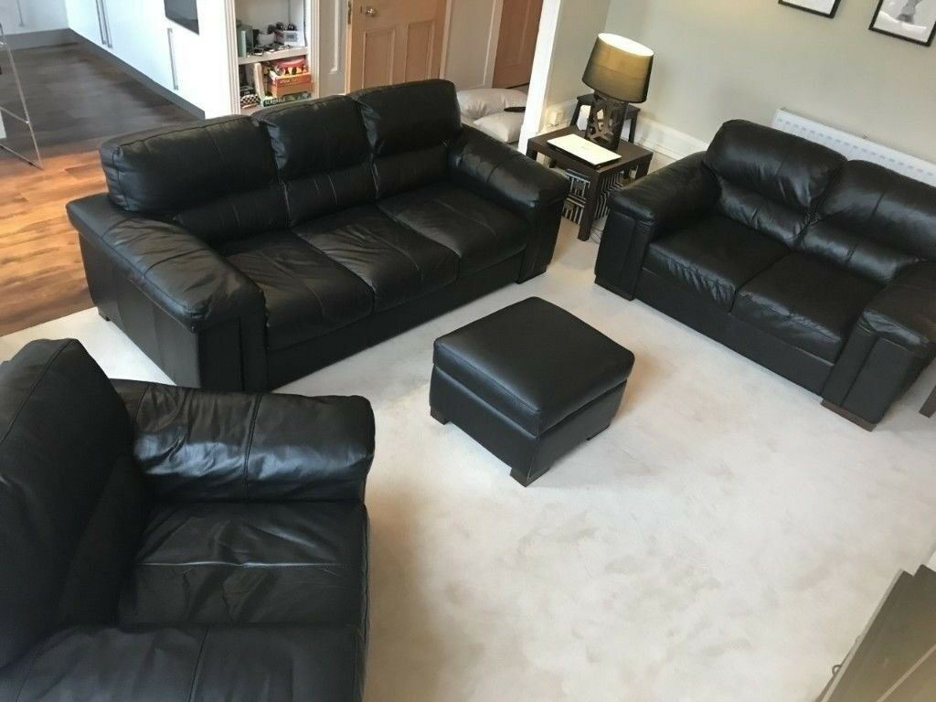 Miraculous Good Quality Leather Sofa Set 3 2 1 Seaters In Dowanhill Glasgow Gumtree Pdpeps Interior Chair Design Pdpepsorg