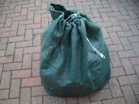 Caravan cover in green with storage bag