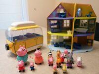 Peppa Pig family home and camper van