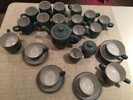 Denby azure tea set