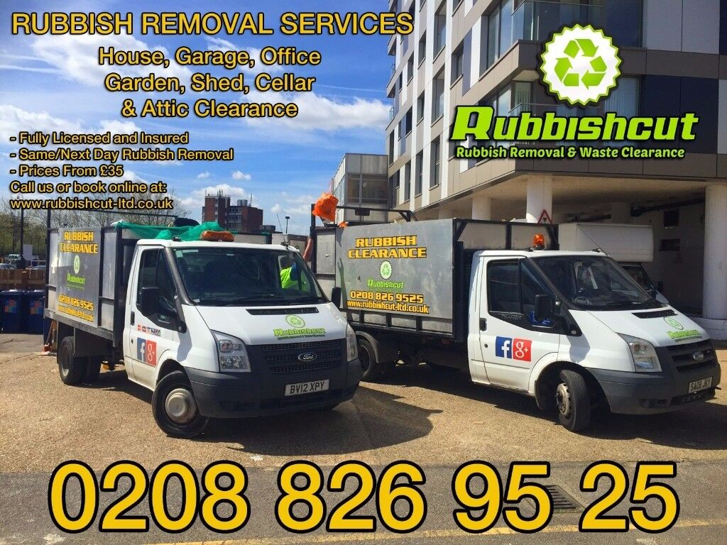 Fully Liensed Same Day Service - Rubbish or House Clearance - Waste Disposal - Junk Removal - Skip