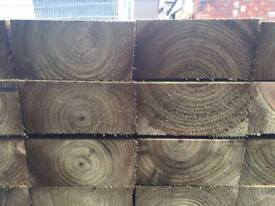 💫New Tanalised Wooden Railway Sleepers Excellent Quality •