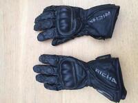 Richa ladies waterproof leather motorcycle gloves