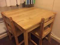 Kids Solid Wood Table & Chairs - EXCELLENT CONDITION