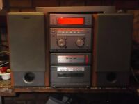 SONY STEREO SYSTEM MHC-NX1 TWIN CASSETTE DECKS DOLBY 5X CD CHANGER