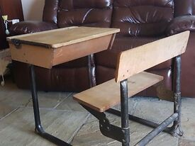 Childs antique school desk