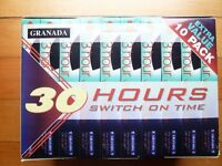 Granada 10 x 3Hr Blank VHS Video Tapes / Cassettes