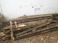 FREE - old decking / fence boards - wood burner