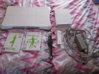 Nintendo Wii White Console bundle complete with wii board,wii fit and wii fit plus games
