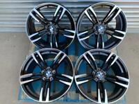 "BMW 437M M3/M4 Style 19"" Staggered Alloy Wheels Black And Polished"