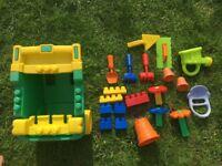 Megablocks wheel barrow and garden toys