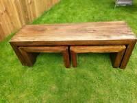 Mango wood nest of tables