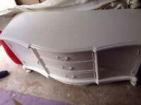 Solid wood white John Lewis sideboard